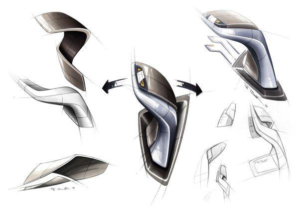 BMW Vision EfficientDynamics, Design Sketch Interior, Gear