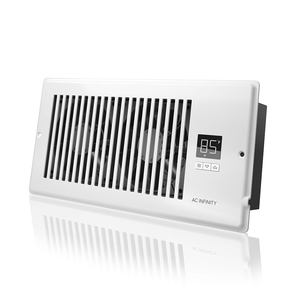 ac infinity airtap t4 quiet register booster fan with thermostat control heating cooling vent fits 4 x 10 holes walmart com and fans vision 56