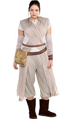 3999faca59 Adult Rey Costume Plus Size - Star Wars 7 The Force Awakens | Star ...