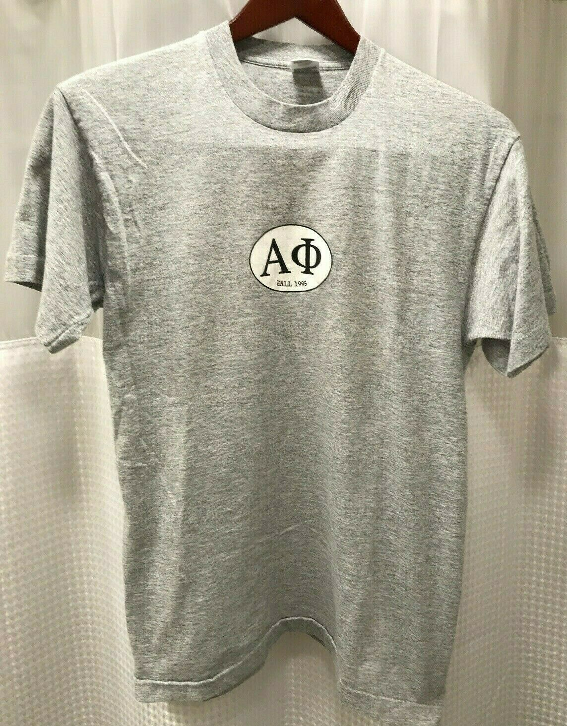 Vintage Fruit Of The Loom Gray USA Fraternity T Shirt