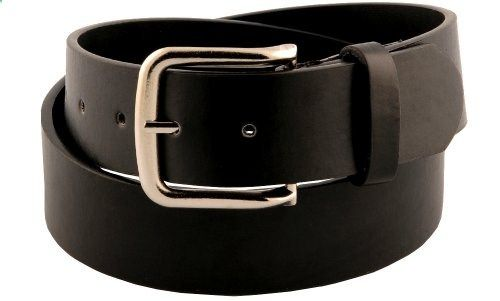 """Womens 1 1//2/"""" Wide Classic Smooth Faux Leather Belt With Shiny Nickel Buckle"""
