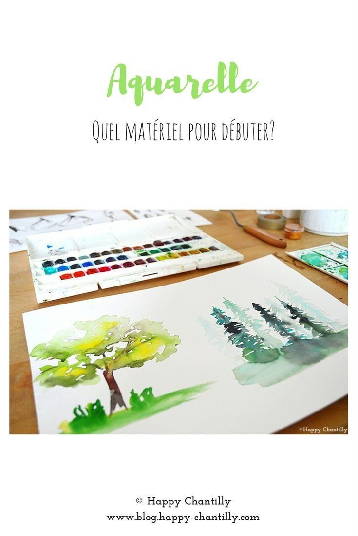 Aquarelle Quel Materiel Pour Debuter Aquarelle Peinture