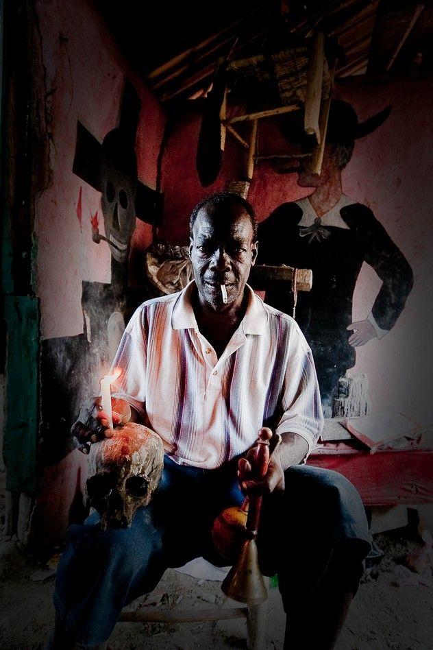 Voodoo priest Photo and caption by Alan Kardec Epifânio Alves