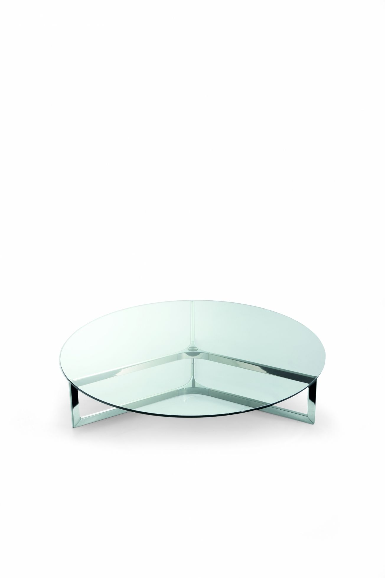 The Raj 1 Circular Coffee Table With A Transparent Glass Table Top And A Stainless Steel Base Available From I Coffee Table Metal Coffee Table Glass Furniture [ 1957 x 1304 Pixel ]
