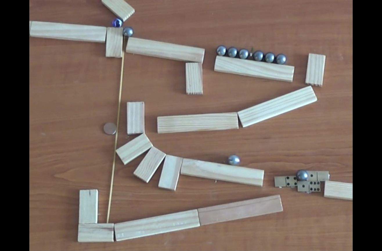 Gravity Is No Match For This Magnetic Rube Goldberg
