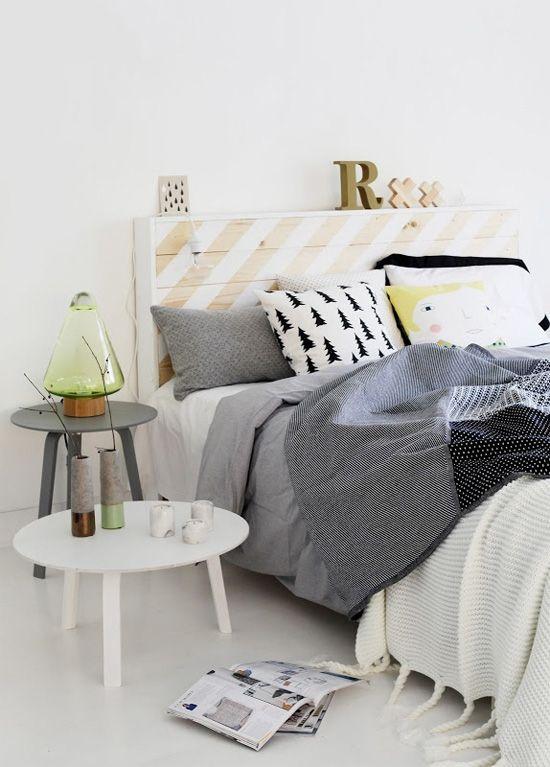 Cute bedroom with a Scandinavian feel