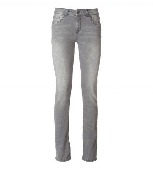 Pantaloni denim grigi