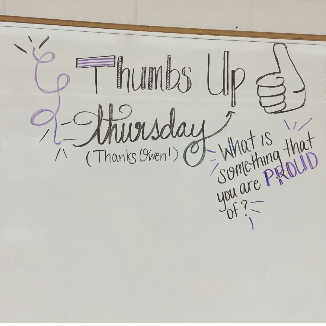 Thumbs Up Thursday....What is something that you are proud of ...