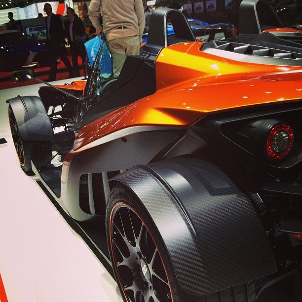 Close up of the KTM XBOW in geneva!