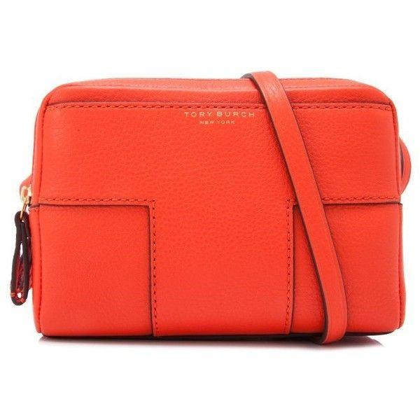 316e5ae81dc9 Tory Burch Block T-Pebbled Double-Zip Crossbody Bag ( 340) ❤ liked ...
