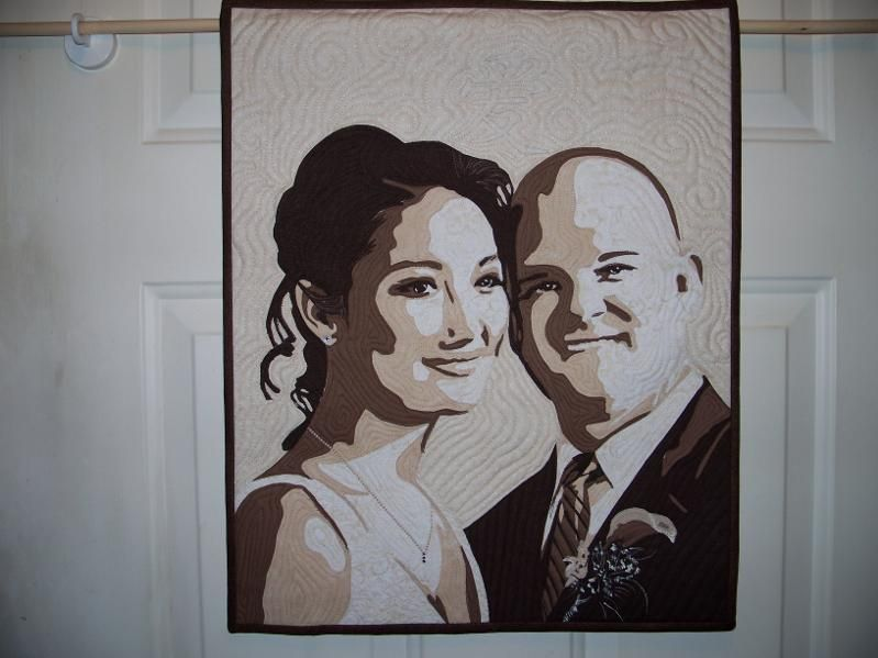 Awesome portrait quilt