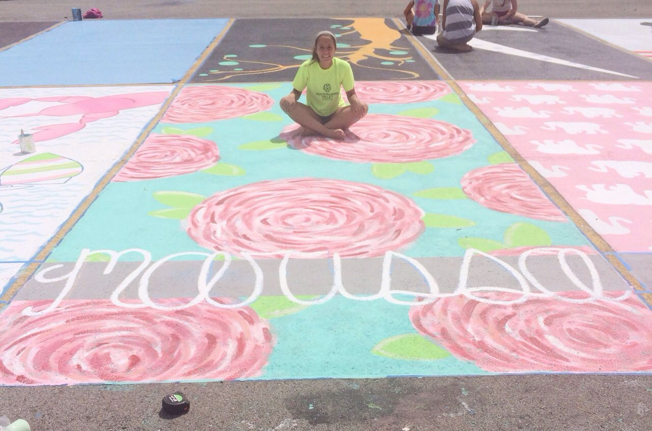 Spot Mural Design Lilly Pulitzer School Parking Spot I Wish Our School Let
