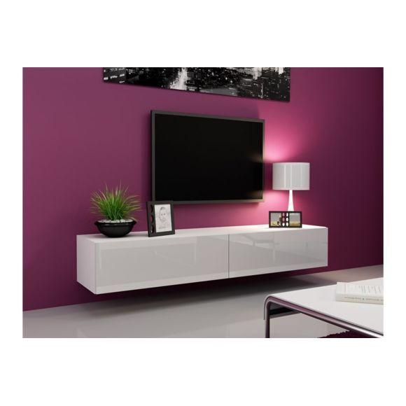 Chloe Design Meuble Tv Design Suspendu Vito 180cm Noir Et Blanc Pas Cher Achat Vente Meubles Tv Hi Fi Petit Meuble Tv Meuble Tv Design Mobilier De Salon