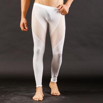 d75330e571 High Quality Men s Sexy Mesh Sheer Lounge Pants Sexy Long Pants Transparent  Mesh Tights Leggings for Cool Male Gay Underwear