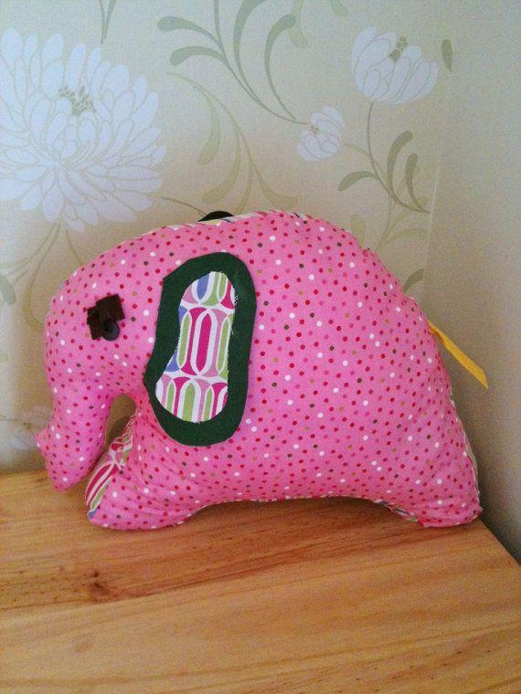 EllatheElephant Nursery DoorStop In Pink By Buttonandbunny On Etsy, £10.00