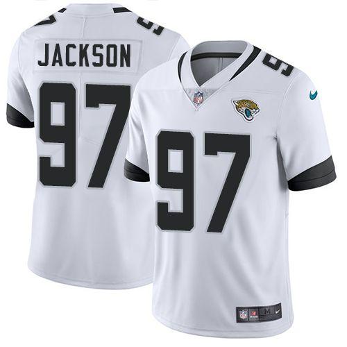 1bdd28f4d82 Nike Jaguars  97 Malik Jackson White Men s Stitched NFL Vapor Untouchable  Limited Jersey Jacksonville Jaguars