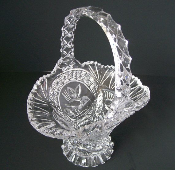 Vintage Leaded Crystal Pitcher. | Crystal glassware, Lead ...