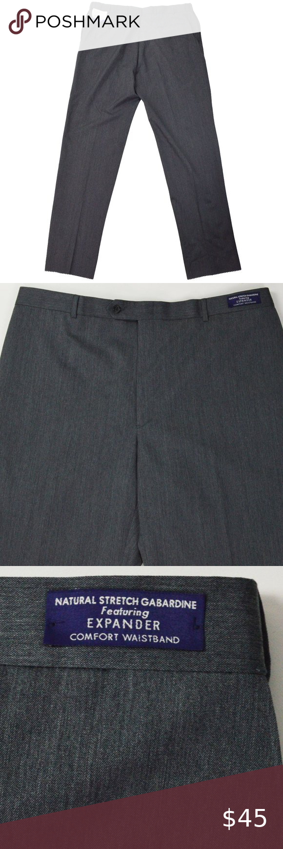 Sold Austin Reed Mens Pants Size 40 Grey Mens Wool Trousers Mens Pants Mens Pants Sizes