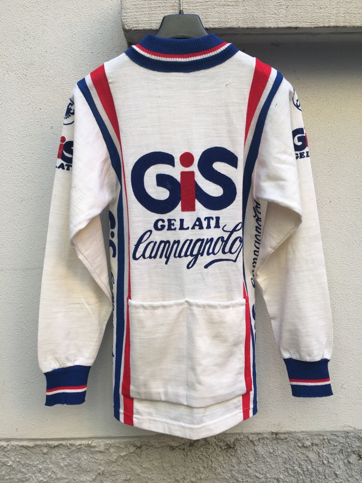 VINTAGE JERSEY CYCLING GELATI GIS COLNAGO CAMPAGNOLO BY CASTELLI PRO ...