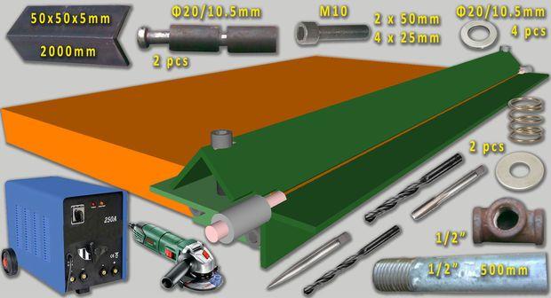 Diy Sheet Metal Bender Brake With Images Sheet Metal Bender Metal Bender Sheet Metal