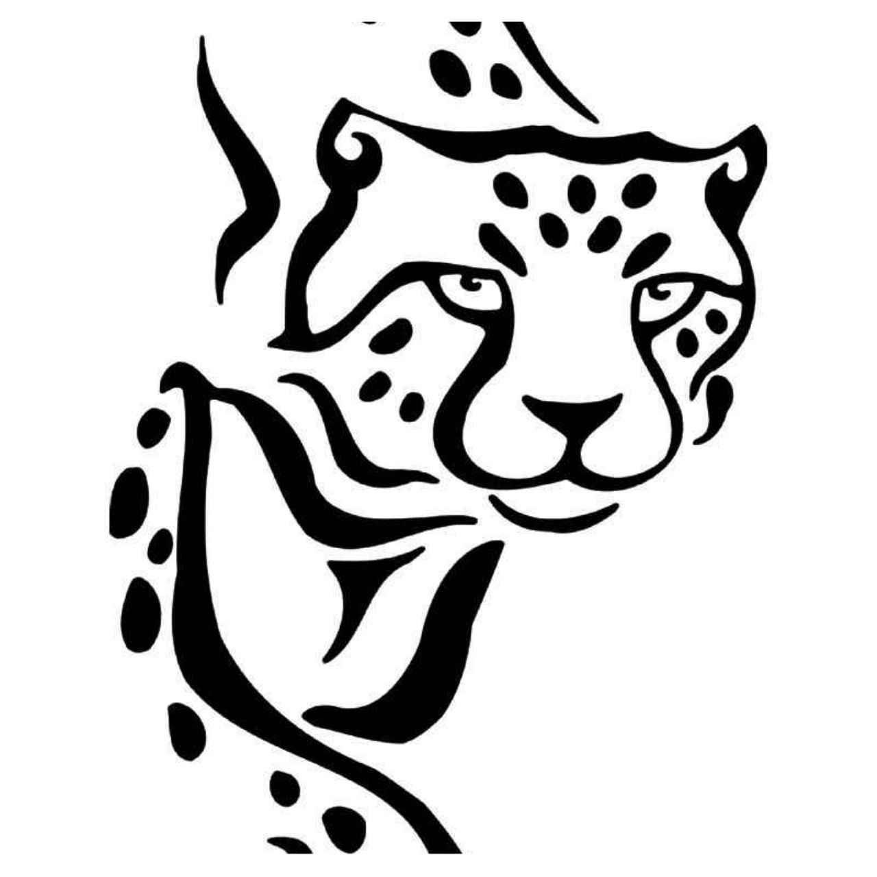 Tribal Cheetah 3 Vinyl Decal Sticker Ballzbeatz Com