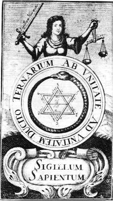 (« le Lut de Sapience », frontispice du Philaletha Illustrasta de Michael Faust)