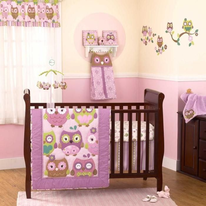 Great baby girl nursery ideas nursery decoration ideas owl theme baby girl nursery ideas - Baby girl bedroom ideas ...