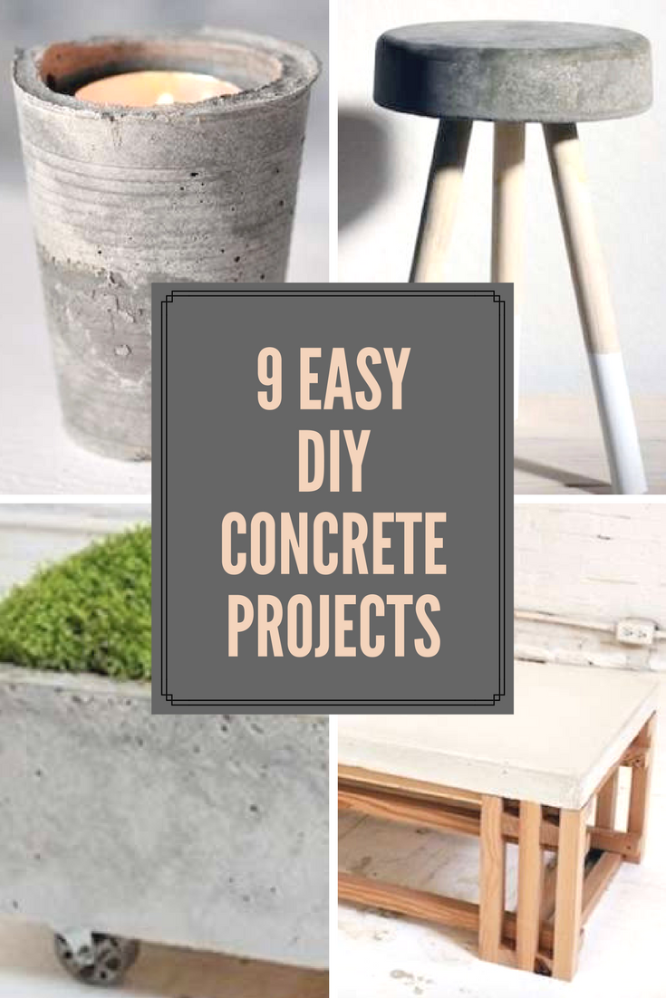Cement Your Place in DIY History with These 9 Easy