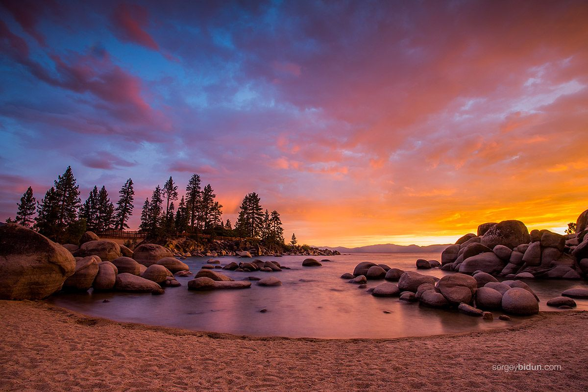 Lake tahoe sunset travel channel pinterest - Sunset Lake Tahoe Sunset At Sand Harbor Beach Lake Tahoe By Sergey1984 On Deviantart