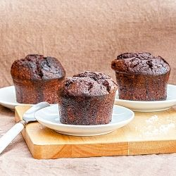Chocolate and fleur de sel cakes (in French)