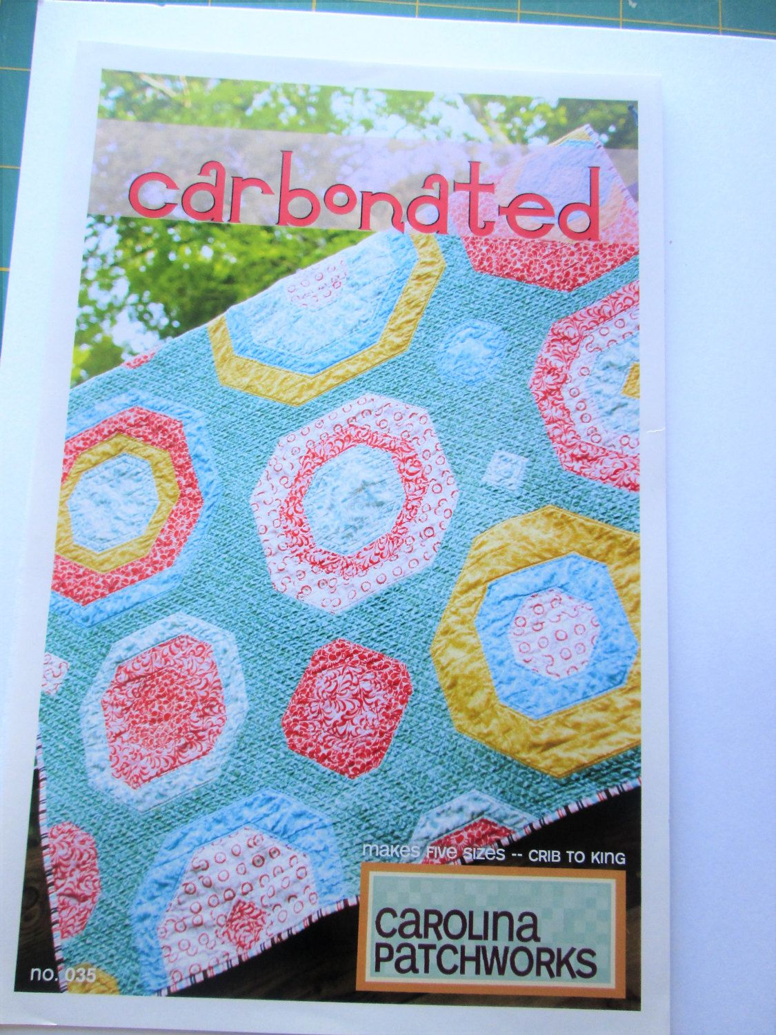 Carbonated Quilt Pattern No. 35- Carolina Patchworks- by Emily Cier by QuiltiliciousFabric on Etsy