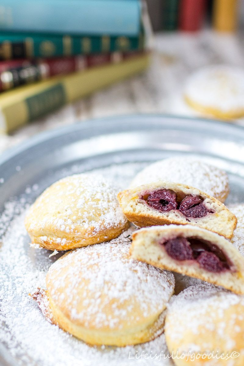 Cherry bags made from quark oil dough – Life Is Full Of Goodies