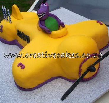 Barney Cake Kids Birthday cakes 2 Pinterest Barney cake