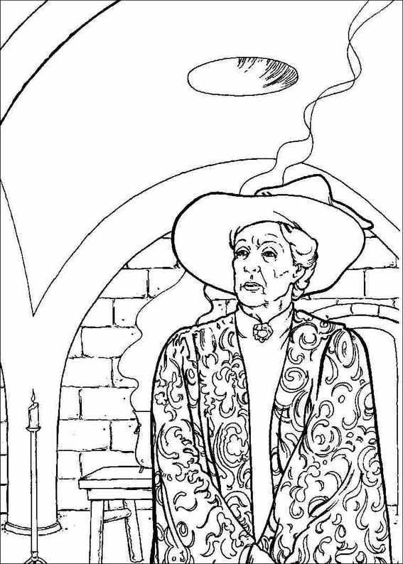 Professor McGonagall - Harry Potter colouring | Colouring Harry ...