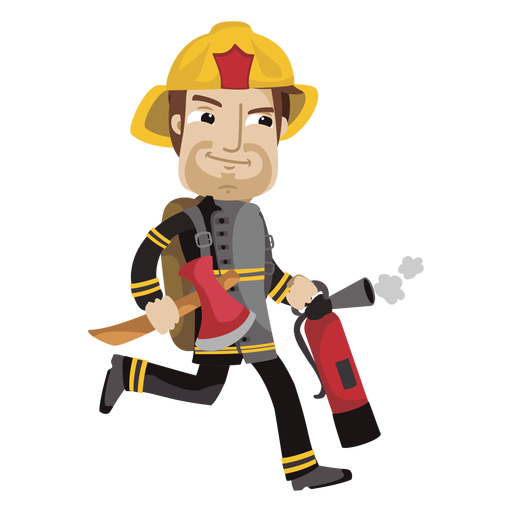 Busy Fireman Cartoon Png Fireman Cartoon Cartoons Png