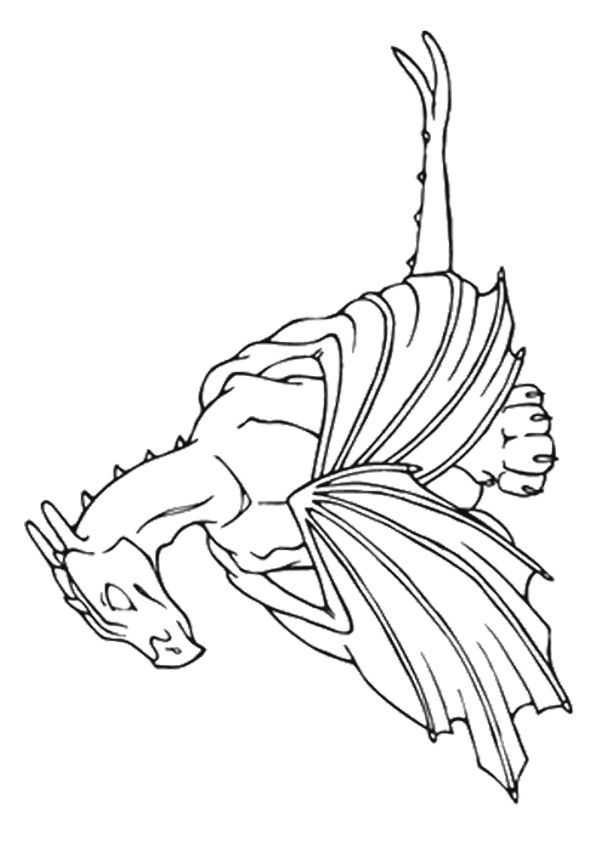Dragon Coloring Pages Momjunction on a budget