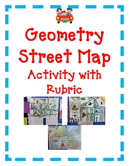 geometry map project Before starting the project, you must make a rough draft of your city on notebook paper use the rough draft to sketch out where things will go on the larger map.