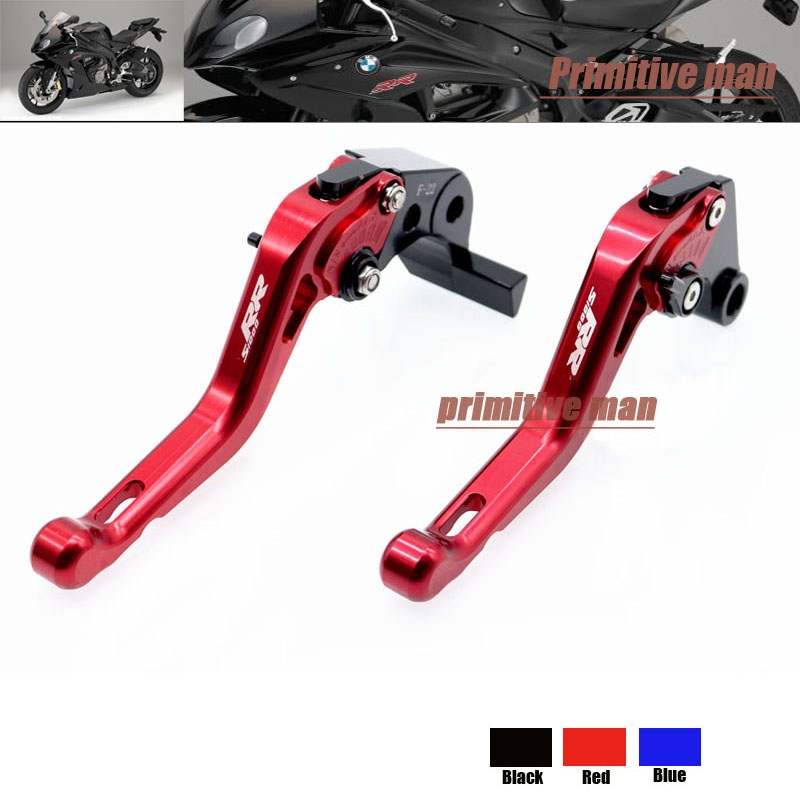 (41.99$)  Know more - http://aiwd5.worlditems.win/all/product.php?id=32307052785 - For BMW S1000RR 2010-2014 Motorcycle Accessories Short Brake Clutch Levers logo S1000RR Red
