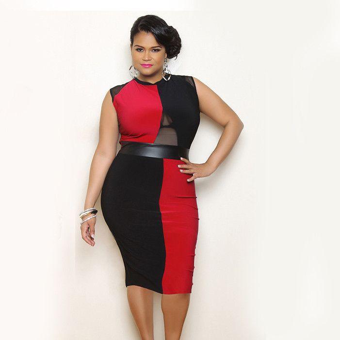 Women Plus Size Dresses Xl Xxl 3xl Big Size Lace Red Dress Sexy