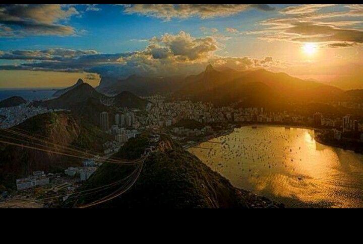 Rio de Janeiro, Brazil at sunset.