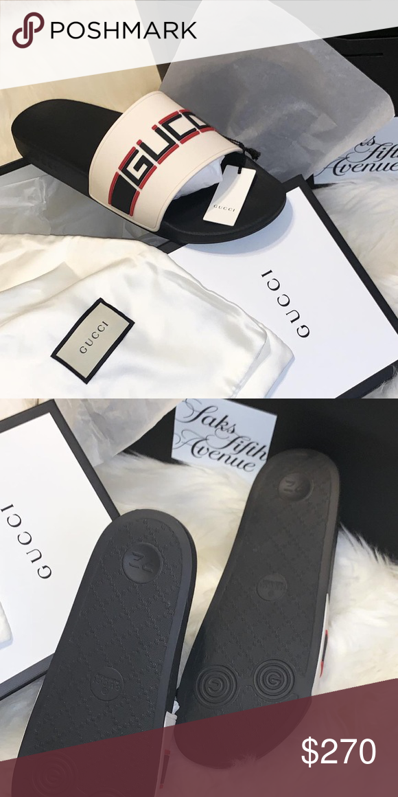 adb973a12 Gucci Slide These slides have never been worn! Still in box with paper.  Gucci