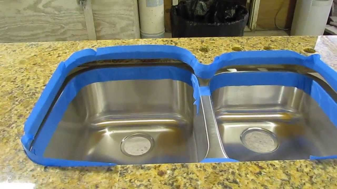 How To Install An Undermount Sink To A Granite Countertop Youtube Undermount Kitchen Sinks Top Mount Kitchen Sink Kitchen Sink Install