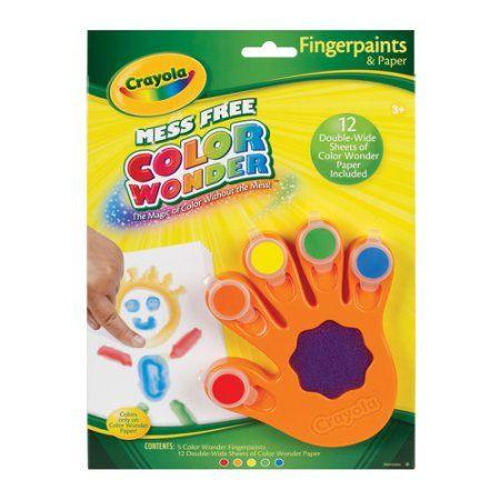 Crayola Color Wonder Fingerpaint Multi Colored Walmart Com