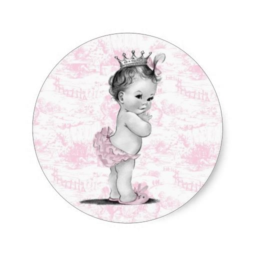 Vintage Pink Toile Baby Shower Stickers Zazzle Com Baby Shower Stickers Baby Prints Baby Stationery