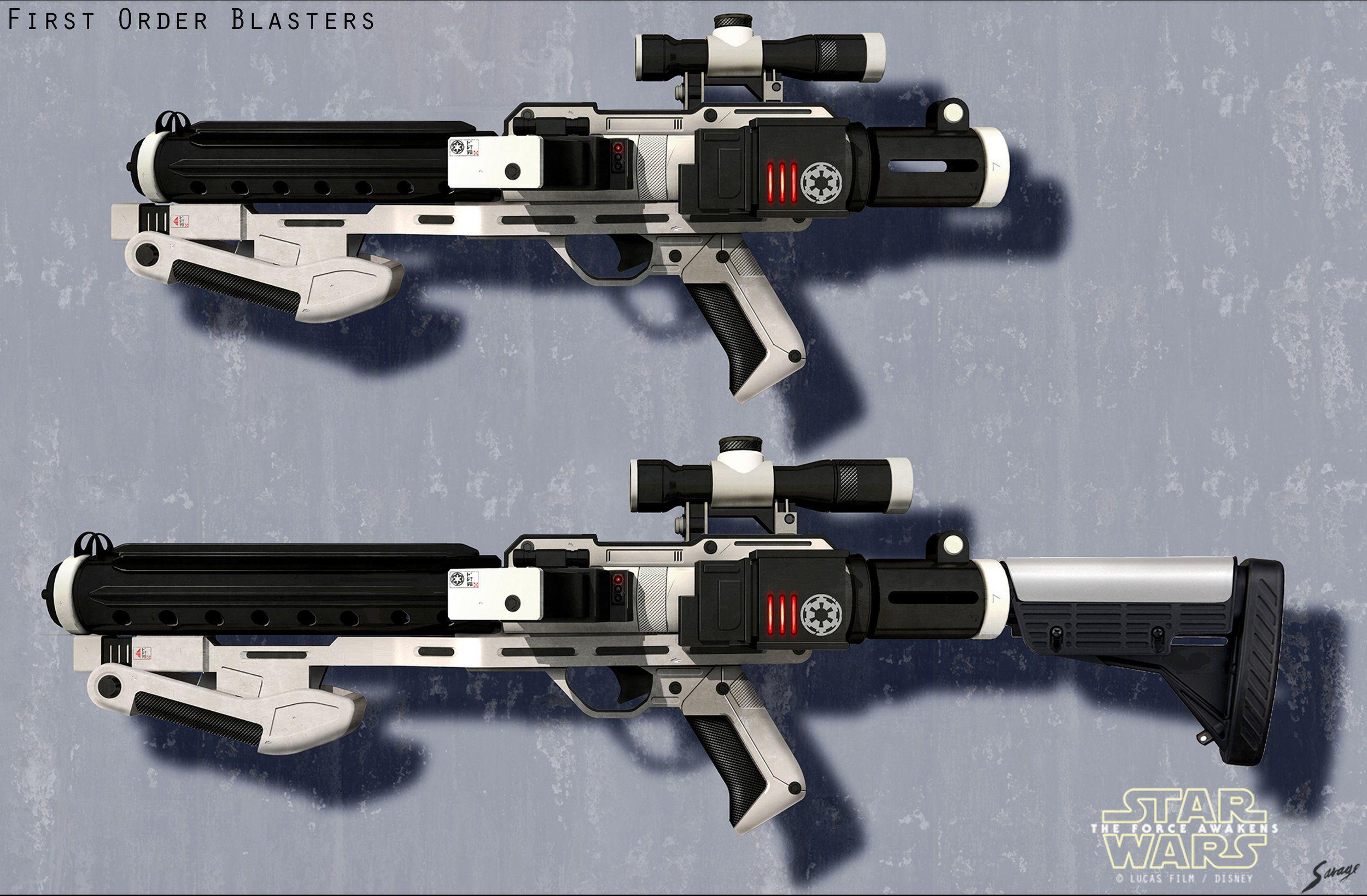 Star Wars Custom V2 Clone Commando Captain Fordos BlasTech DC-17 Extended Side Arm Blaster Pistol Prop