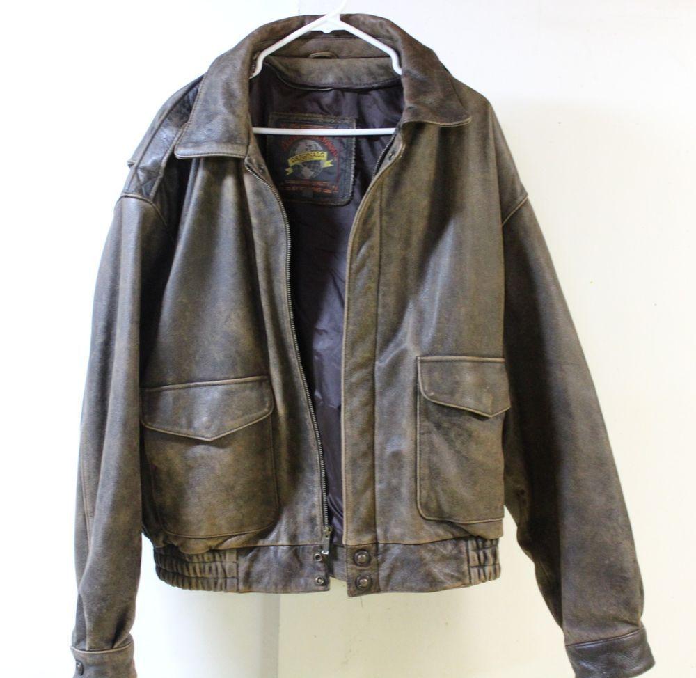Men S Wilson S Adventure Bound Original Xl Brown Leather Bomber Flight Jacket Fashion Clothing Shoes Accessories Mens Jackets Flight Jacket Leather Bomber [ 974 x 1000 Pixel ]
