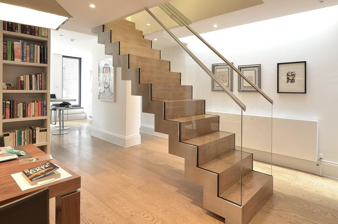 Best Zig Zag Staircase In 2019 Glass Stairs Bespoke 640 x 480