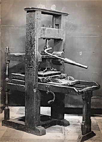 Original Gutenberg Printing Press Johannes Gutenberg fir...