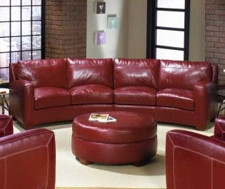 distressed red leather couch seattle photograph | Leather ...