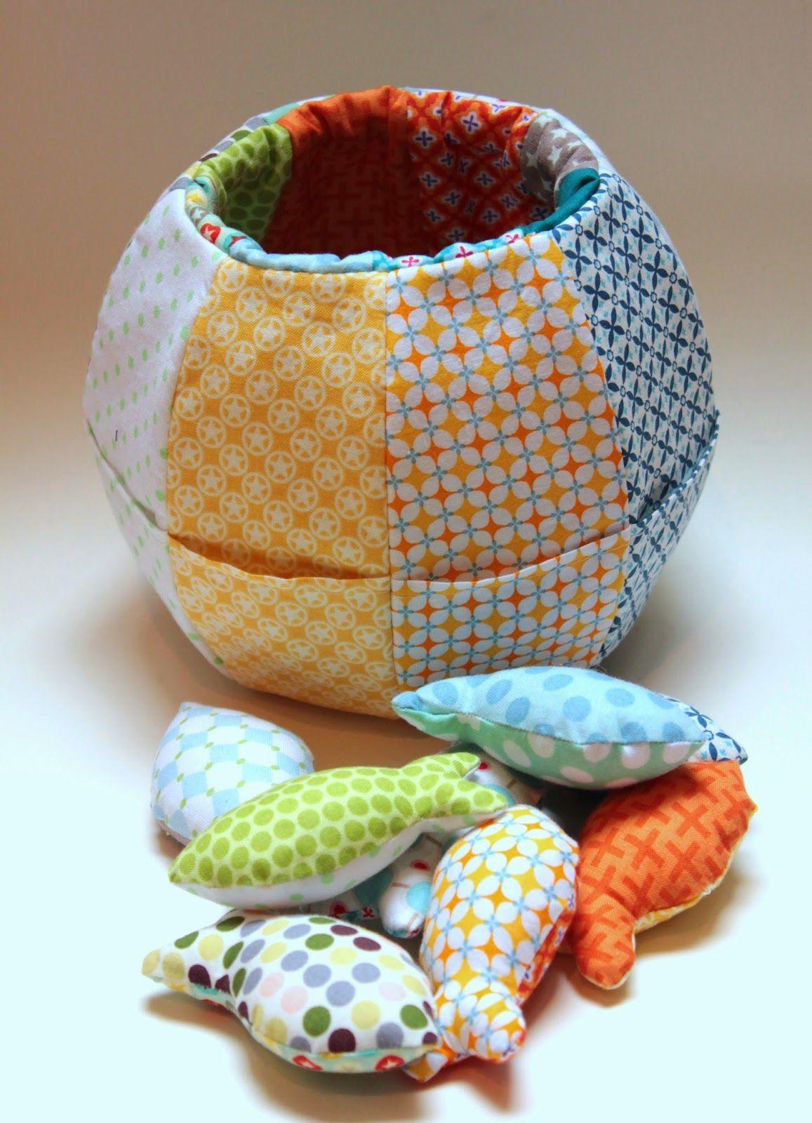 Fishbowl Spielerei aus Stoff Ideen zum selbermachen
